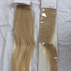 22'' tape in blonde human hair extensions